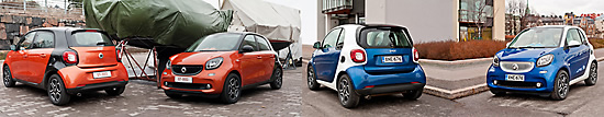 Smart Forfour, Smart Fortwo